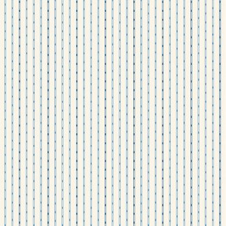 Blue Sky Fabric - Andover Fabric - Half Yard - Dark Blue Tiny Stripes on Cream Fabric Edyta Sitar Laundry Basket Quilts Fabric A-8514-L