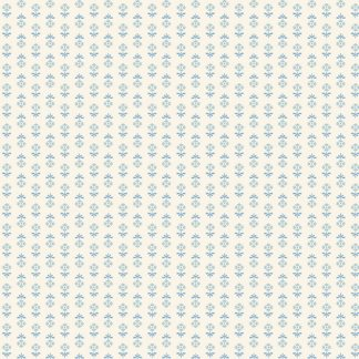 Blue Sky Fabric - Andover Fabric - Half Yard - Reproduction Small Blue Flowers on Cream Shirting Edyta Sitar Laundry Basket Quilts A-8512-W
