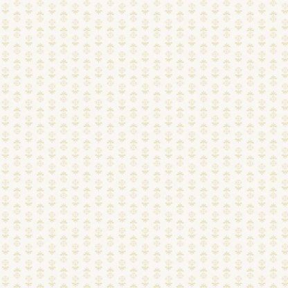 Blue Sky Fabric - Andover Fabric - Half Yard - Reproduction Tonal Tan Flowers on Cream Shirting Edyta Sitar Laundry Basket Quilts A-8512-L