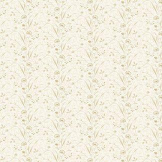 Blue Sky Fabric - Andover Fabric - Half Yard - Tonal Tan Flowers on Cream Shirting Fabric Edyta Sitar Laundry Basket Quilts A-8508-L