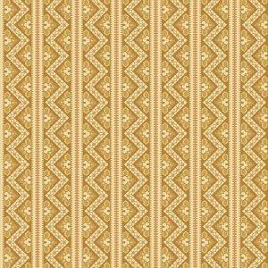 Crystal Farm Fabric - Andover Fabric - Half Yard - Edyta Sitar Laundry Basket Quilts Geometric Chevron Stripes Gold & Off White A-8617-Y