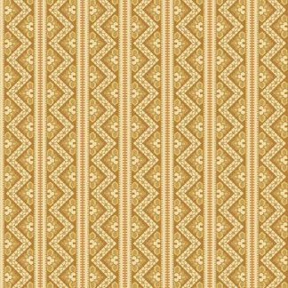 Crystal Farm Fabric - Andover Fabric - Half Yard - Edyta Sitar Laundry Basket Quilts Geometric Chevron Stripes Gold & Off White A-8617-Y