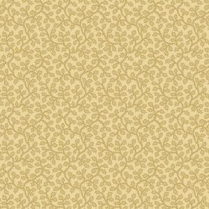 Crystal Farm Fabric - Andover Fabric - Half Yard - Edyta Sitar Laundry Basket Quilts Vines and Berries Tan on Beige Off White A-8621-L