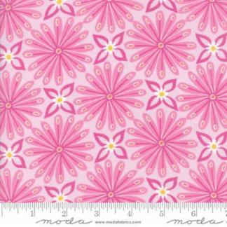 Early Bird Fabric - Half Yard - Moda Fabric - Pink with Flowers Large Scale Print by Kate Spain Quilting Sewing Fabric Moda 27262 12