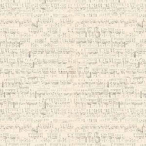 Eclectic Elements - Symphony - Tim Holtz - Beautiful Sheet Music in Brown on Cream Designer Quilting Sewing Fabric Half Yard PWTH022-NEUTR