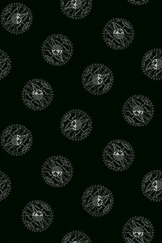 Encyclopedia Galactica Fabric - Half Yard - Black Planet Astrophysics Fabric Andover Outer Space Fabric Quilt Fabric Studio A 8359 MS