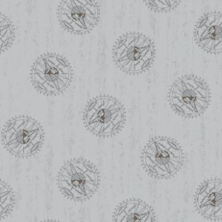 Encyclopedia Galactica Fabric - Half Yard - Gray Grey Planet Astrophysics Fabric Andover Outer Space Fabric Quilt Fabric Studio A 8359 C