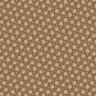 Isabella Fabric - Half Yard - Jo Morton - Brown with Little Clover Leaves Design Quilting Quilt Fabric Andover Reproduction - A-7946-LN