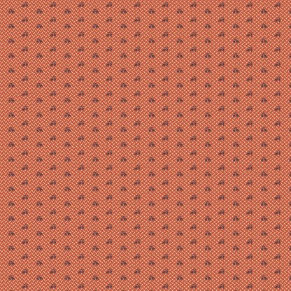 Isabella Fabric - Half Yard - Jo Morton - Burnt Orange with Brown Tiny Flowers Design Quilting Quilt Fabric Andover Reproduction A-5328-NR