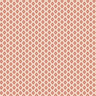 Isabella Fabric - Half Yard - Jo Morton - Creamy Off White with Red Diamond Design Quilting Quilt Fabric Andover Reproduction - A-7944-L