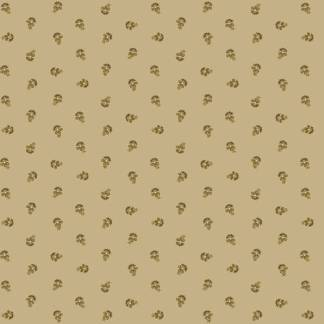 Jo's Best Friends - Half Yard - Tonal Tan with Brown Small Flowers Design Jo Morton Reproduction Fabric Cotton Quilt Fabric Andover A-5331-N