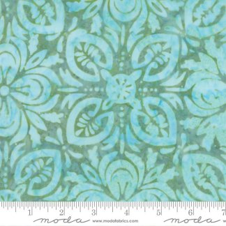 Latitude Batik Fabric - Moda Fabric - Half Yard - Kate Spain Ocean Aqua Blue on Green Navigate Hand Dyed Fabric Quilt Fabric 27250 375