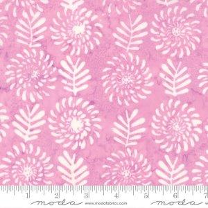 Latitude Batik Fabric - Moda Fabric - Half Yard - Kate Spain Pink Sunset Flowers and Leaves Hand Dyed Fabric Quilt Fabric 27250-287