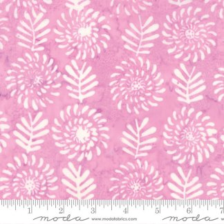 Latitude Batik Fabric - Moda Fabric - Half Yard - Kate Spain Pink Sunset Flowers and Leaves Hand Dyed Fabric Quilt Fabric 27250-287