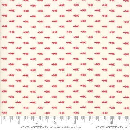 Liberty Gatherings Fabric - Moda Fabric - Half Yard - Red Arrows on White Small Scale Shirting Fabric Primitive Gatherings 1208 21