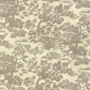 Little Black Dress 2 Floral Toile Posh Natural Ivory Cream Tan by Basic Grey for Moda Designer Cotton Quilting Fabric - 1/2 Yard 30350 11
