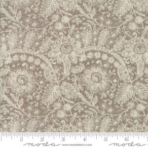 Maven Fabric - Half Yard - Moda Fabric Cream Floral Flowers Lace on Kraft Tan Brown Cotton Quilt Fabric Basicgrey Basic Grey Gray 30460 25