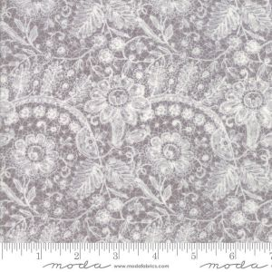 Maven Fabric - Half Yard - Moda Fabric Cream Floral Flowers Lace on Stone Gray Cotton Quilt Fabric Basicgrey Basic Grey Gray 30460 24