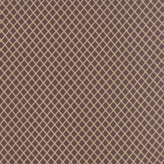 Mille Couleurs Floral Trellis Diamonds Mulberry Plum Dark Purple and Tan Designer Quilting Sewing Fabric 3 Sisters Moda - 1/2 Yard 44089 14