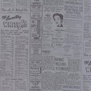 Modern Background Ink - Zen Chic Basic Newsprint Newspaper Steel Grey Gray with Black Type Moda Quilting Sewing Fabric 1582 19 - Half Yard