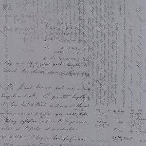 Modern Background Ink - Zen Chic Basic Notes Chemistry Trig Steel Grey Gray & White Writing Moda Quilting Fabric 1581 18 - Half Yard