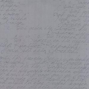 Modern Background Ink - Zen Chic Basic Notes Handwriting Steel Grey Gray Script Writing Moda Quilting SewingFabric 1580 27- Half Yard