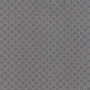 Modern Background Ink - Zen Chic Basic Stitched Circles Dark Graphite Grey Gray with White Moda Quilting Sewing Fabric 1587 24 - Half Yard