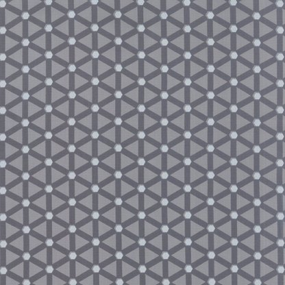 Modern Background Ink - Zen Chic Basic Wheels Medium Steel and Dark Grey Gray Geometric by Moda Quilting Sewing Fabric 1585 21 - Half Yard