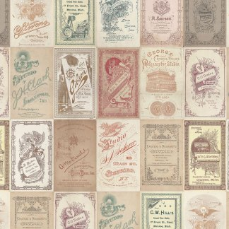 Photo Cards - Half Yard - Eclectic Elements - Tim Holtz - Multi Colors on Tans Old Fashioned Vintage Designer Quilting Fabric PWTH013-MULTI