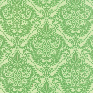 Solstice - Embelishment Laurel Light Green Large Scale Print by Kate Spain Quilting Sewing Fabric Moda - 1/2 Yard 27186 24