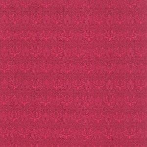 The Morris Jewels - Half Yard - Floral Reproduction Imperial Pink Garnet Quilting Fabric Barbara Brackman Moda William Morris Fabric 8171 50