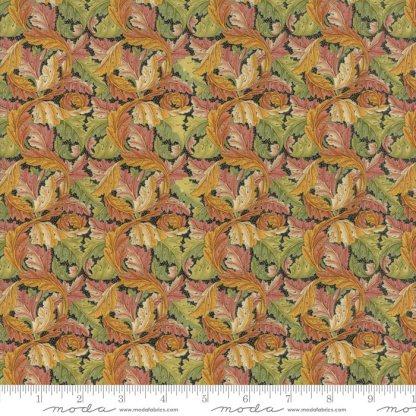 William Morris 2017 Fabric - Half Yard - Moda Reproduction Fabric Acanthus Leaves 1875 Ebony Gold Green Victoria & Albert Museum 7304 15