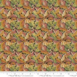 William Morris 2017 Fabric - Half Yard - Moda Reproduction Fabric Acanthus Leaves 1875 Ebony Gold Green Victoria & Albert Museum 7304 15