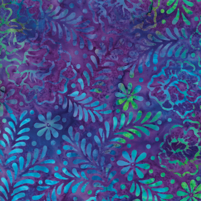 Salsa Turquoise /& Blue Flowers 100/% cotton  fabric by the yard