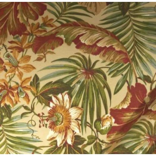 St Croix Tropical Floral Outdoor Fabric  Fabric Traders