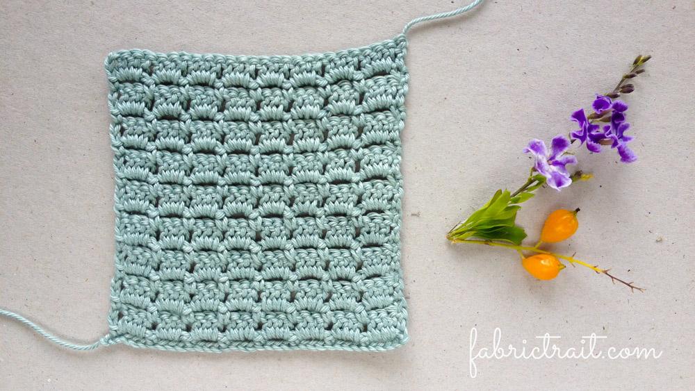 Pontos de Crochet - Ponto Tijolo 4   ponto tijolo