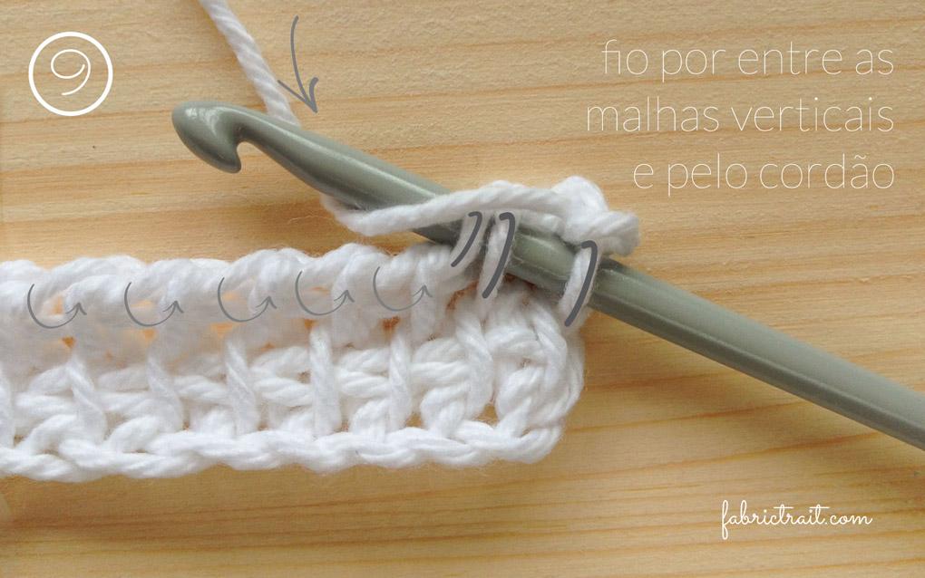 Pontos de Crochet - Crochet Tunisino Simples 7 | crochet tunisino