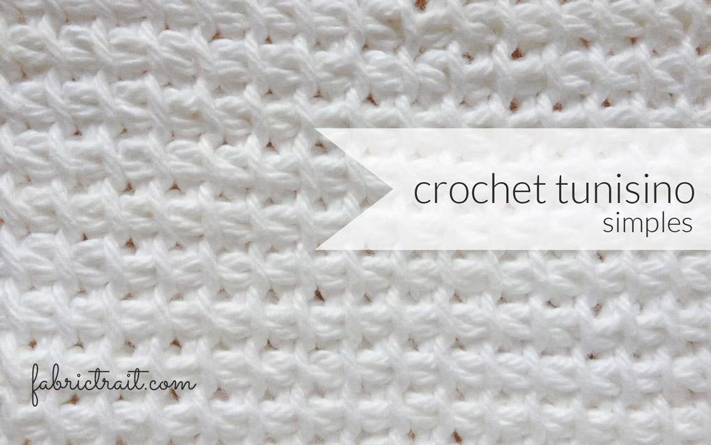 PONTOS DE CROCHET – CROCHET TUNISINO SIMPLES
