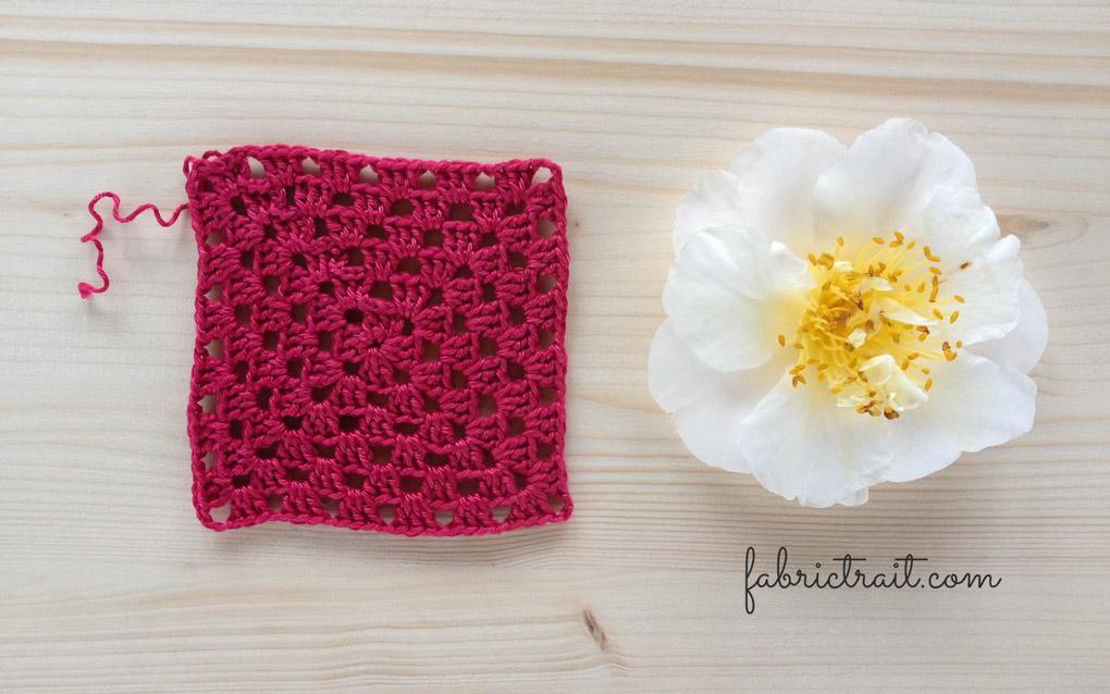 Ponto de Crochet - Quadrado da Avó