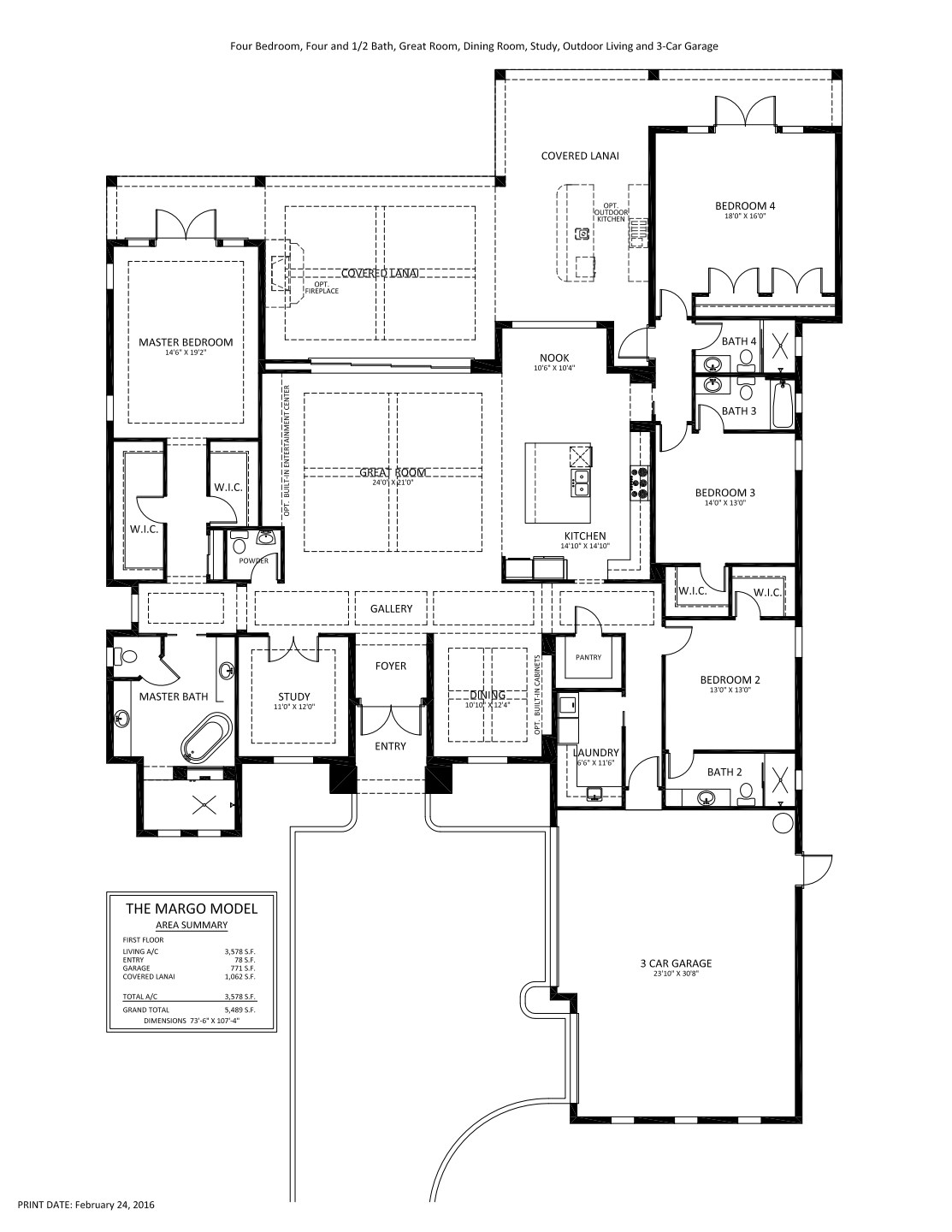 Margo / Floor plans / Country Club East / STOCK Family of