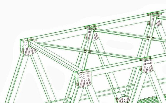 3D Jembatan Rangka B60 dan Detail  Fabrikasi Konstruksi Baja