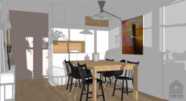 Projet de rénovation, conception sur mesure de mobilier adapté à l'espace et au besoin