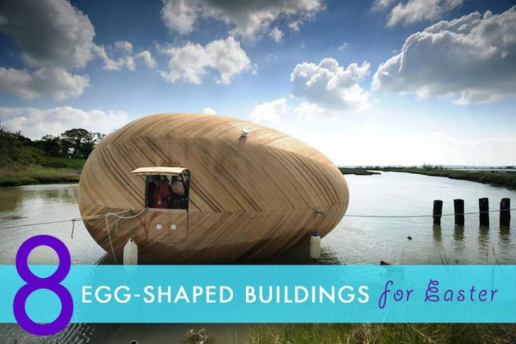 Easter egg shaped buildings
