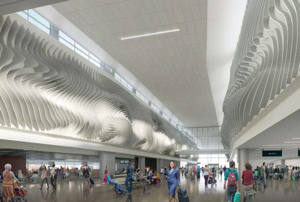 Planned Tensile Membrane Sculpture at Salt Lake City Airport