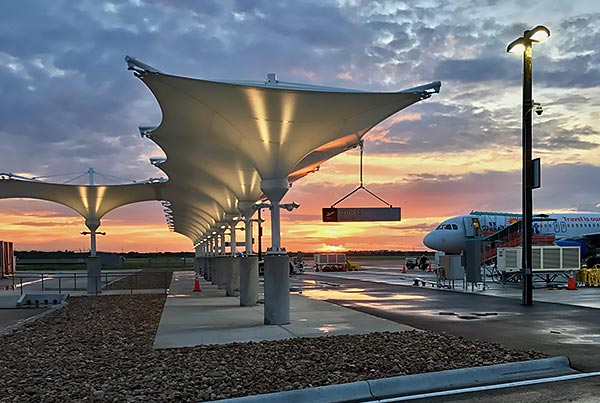 austin bergstrom international airport south terminal fabric structures