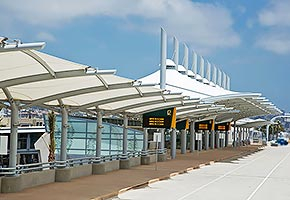 airport tensile membrane structure fabric architecture