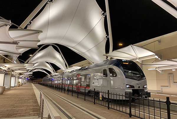 DFW Airport TEXRail Station at Terminal B