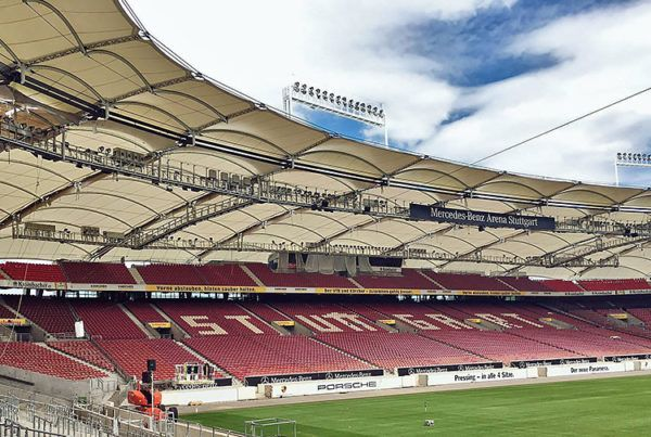mercedes benz stadium membrane roof stuttgart pfeifer