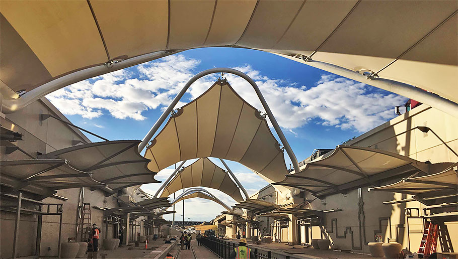 Dallas/Fort Worth International Airport terminal b TEXRail train station