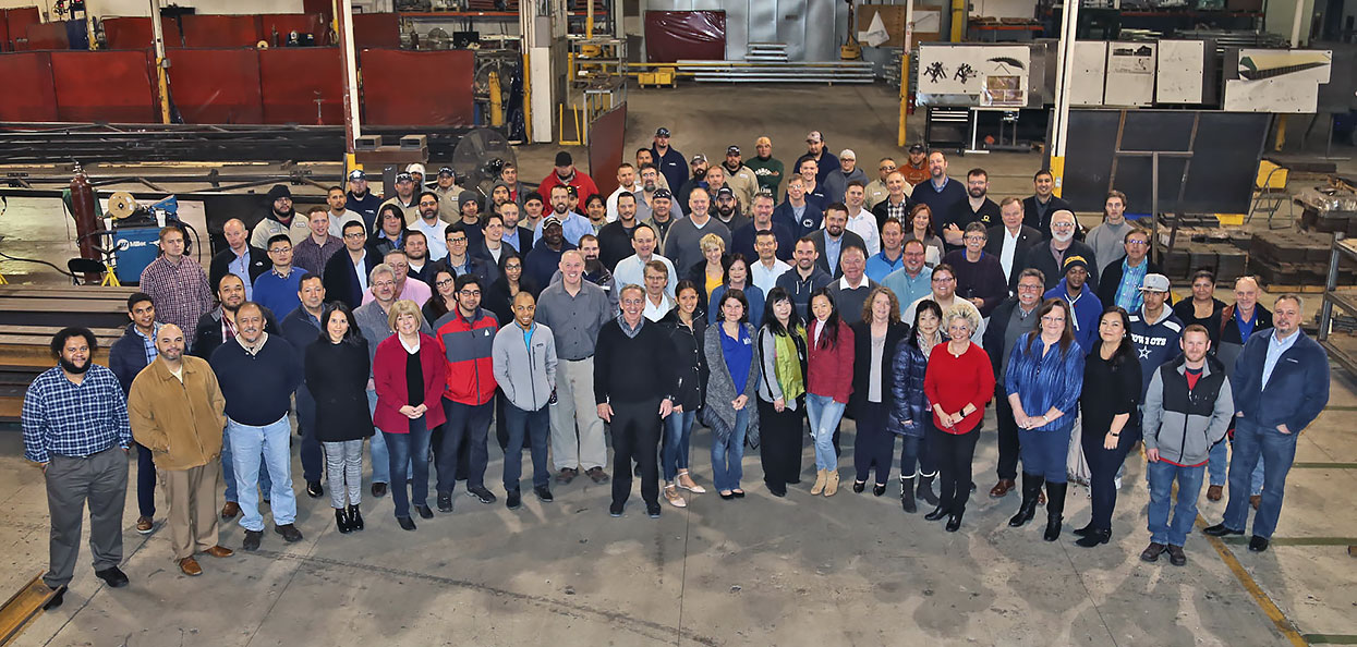 fabritec structures company group employee photo